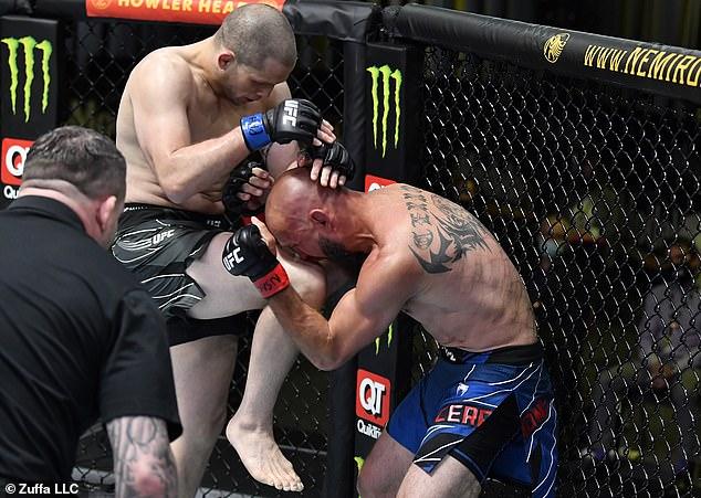 Morono conectó varios golpes fuertes para ahuyentar a su oponente en un combate de peso welter.