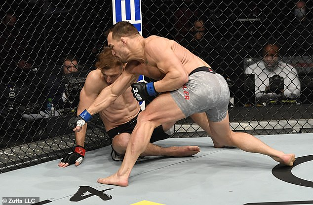 Michael Chandler querrá continuar el enfrentamiento de UFC262 este fin de semana.