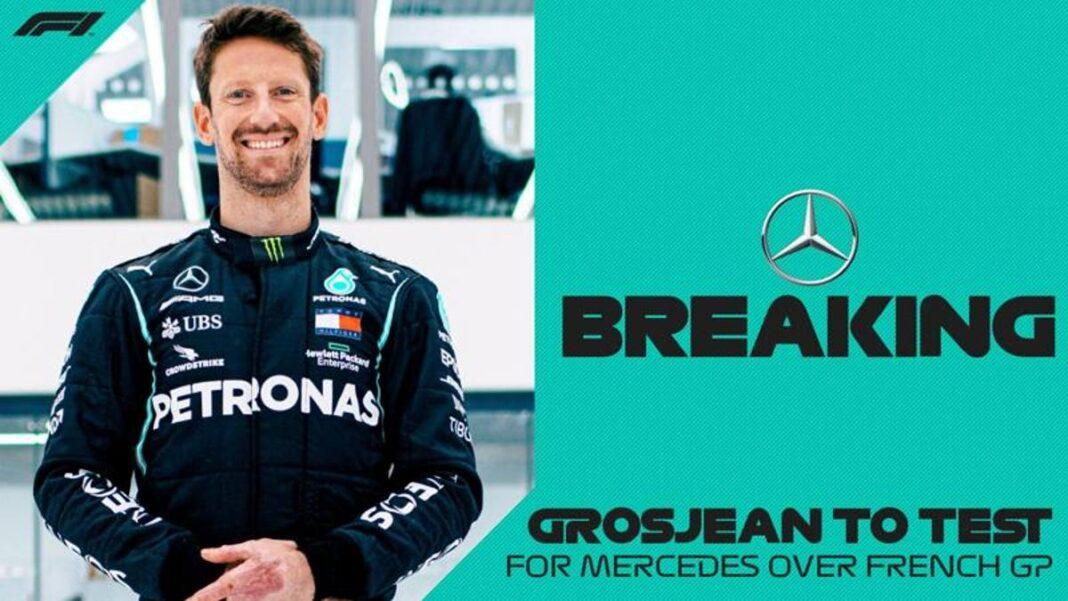 F1, Romain Grosjean está de vuelta: prueba con Mercedes el 29 de junio en Francia
