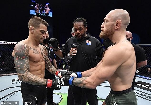 Según los informes, la batalla de la trilogía entre Conor McGregor (izquierda) y Dustin Poirier está programada para el 10 de julio.