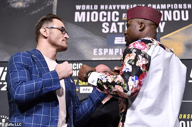 Stipe Miocic (izquierda) y Francis Ngannou (derecha) pelearán en UFC 260 el sábado por la noche
