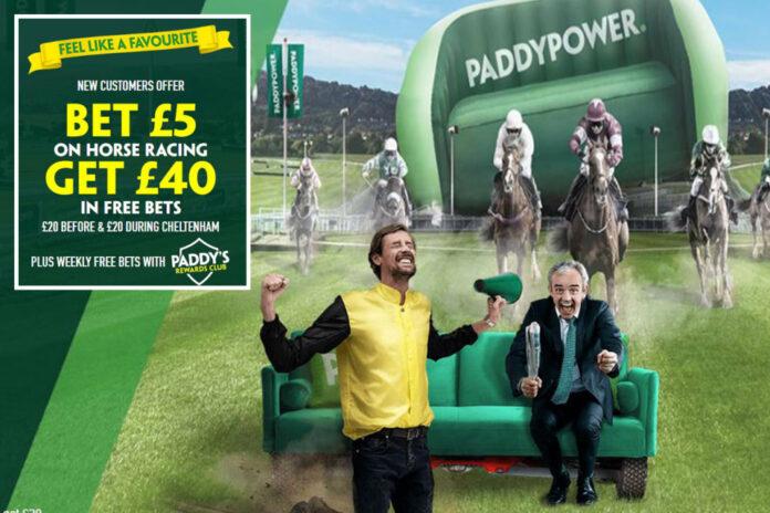 Obtenga £ 40 en apuestas gratis para el Festival de Cheltenham con la oferta de registro de Paddy Power