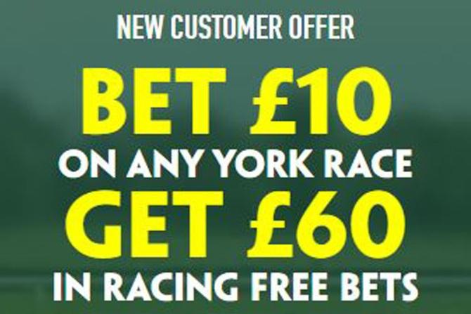 Obtenga £ 60 en APUESTAS GRATIS con Paddy Power en York esta semana