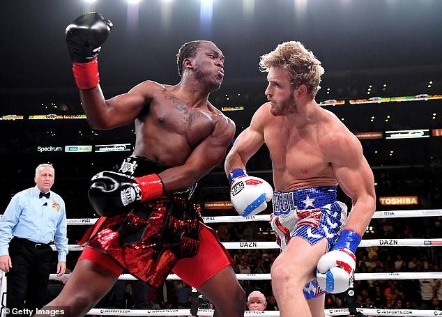 La única experiencia de boxeo de Paul (derecha) se produjo en una derrota por decisión dividida ante KSI en 2019