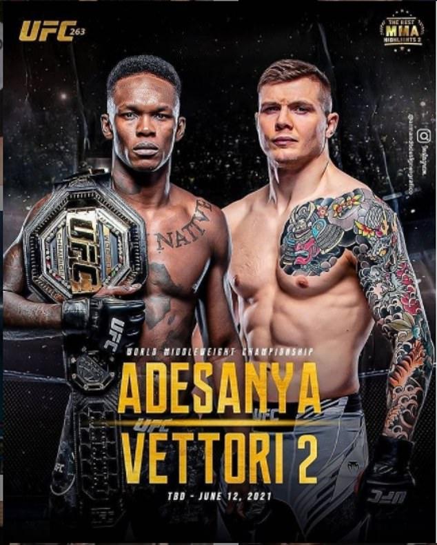 Adesanya y Vettori están en la cima de UFC 263 y están a punto de tener una gran noche.