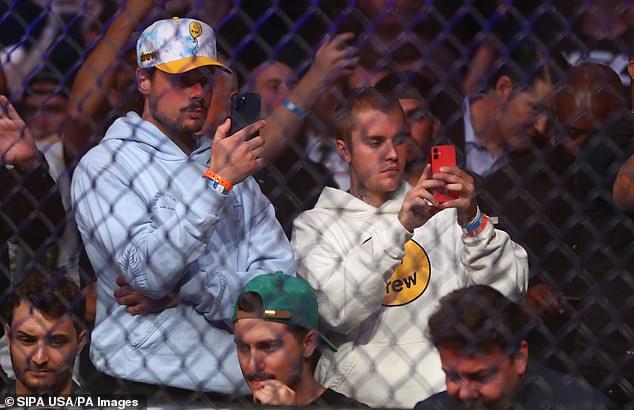 Audiencia: La pareja fue filmada en un teléfono inteligente en algún momento durante un evento producido por Ultimate Fighting Championship.