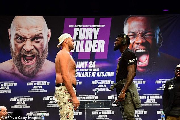 Los rivales de peso pesado Fury y Wilder pelearán por tercera vez en Las Vegas el 24 de julio.