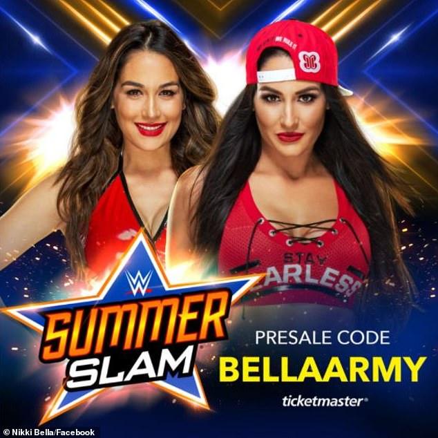 Volviendo a esto: las gemelas Bella anunciaron su retiro del deporte en 2019, pero ambos planean competir en el WWE Summer Grand Slam en Las Vegas el 21 de agosto.