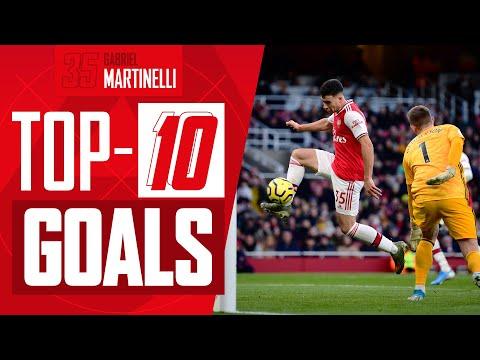 Ranking de los 10 mejores goles de Gabriel Martinelli con el Arsenal