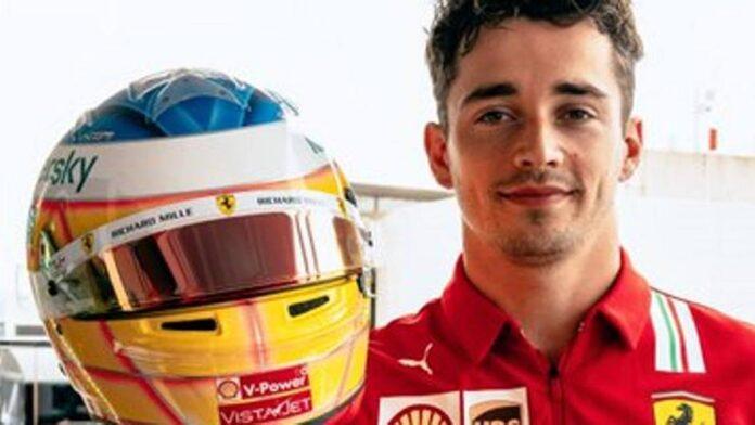 F1, GP de Francia: Charles Leclerc en la pista con un casco especial en memoria de sus años en el karting