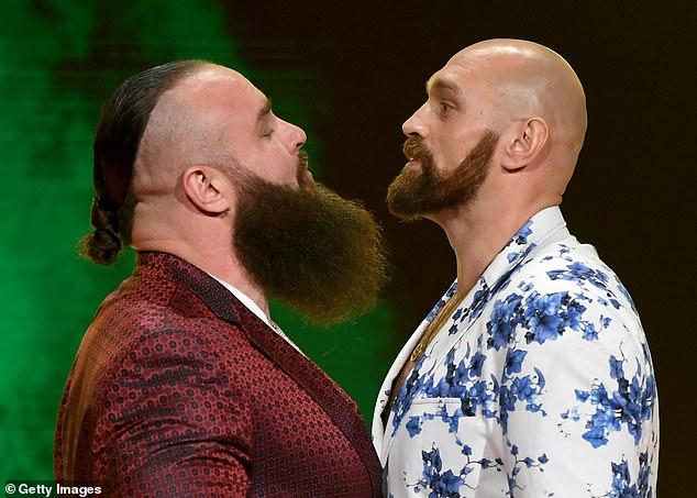 Tyson Fury derrotó a Braun Strowman en Arabia Saudita en octubre para ganar su primer juego de la WWE