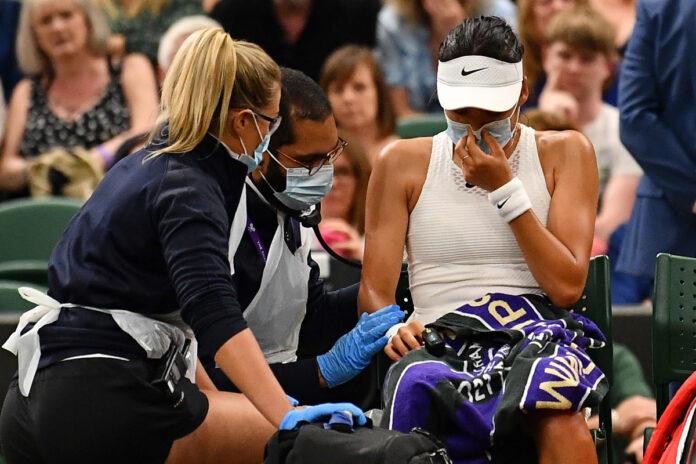 El cuento de hadas de los adolescentes Wimbledon termina cuando el británico se retira lesionado contra Ajla Tomljanovic en el partido de cuarta ronda