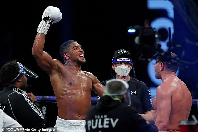 Joshua derrotó a Kubrat Pulev en su última pelea en Wembley Arena en diciembre del año pasado.