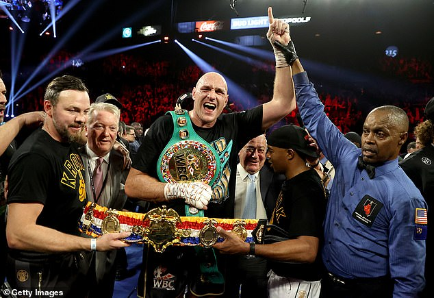 Fury, ahora campeón mundial del CMB, no ha peleado desde que venció a Wilder en febrero de 2020