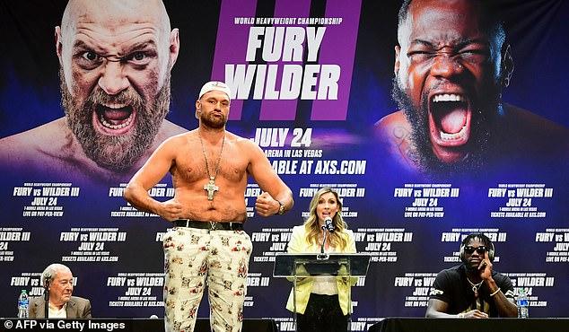 Fury estaba listo para enfrentarse al Bronze Bomber el 24 de julio en un partido de trilogía muy esperado.