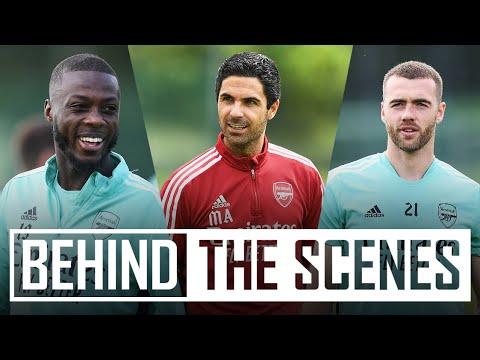 ♥ ️ ¡Los chicos están de vuelta en los campos!  |  Detrás de escena en el centro de entrenamiento del Arsenal