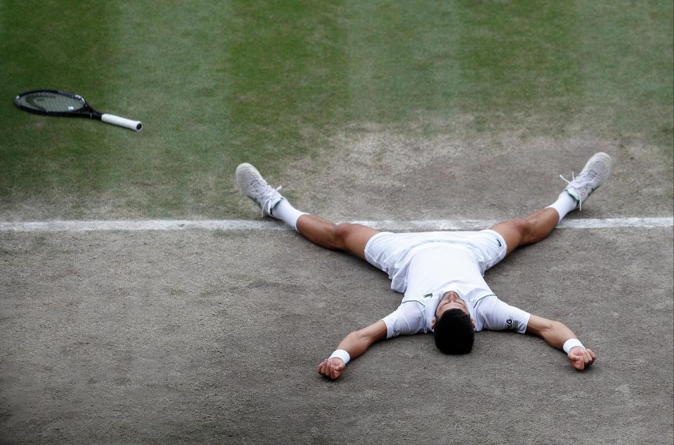 Djokovic golpeó la cubierta después de ganar el punto del campeonato
