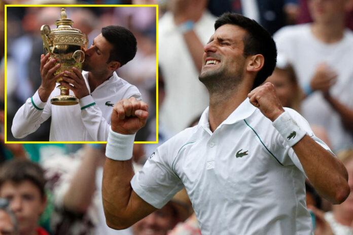 Novak Djokovic iguala a Roger Federer y Rafael Nadal al reclamar el vigésimo título de Grand Slam que iguala el récord al vencer a Matteo Berrettini en la final masculina de Wimbledon