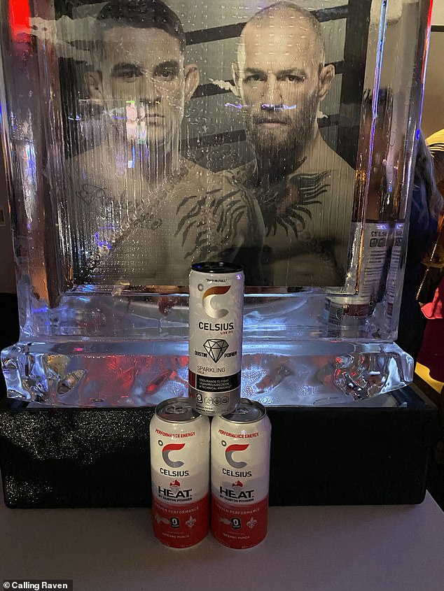 La imagen de Poirier ha mejorado enormemente y su fiesta en Las Vegas ha sido patrocinada por Celsius