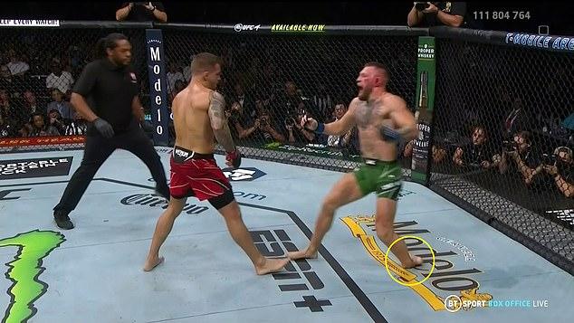 El infame fue derrotado en UFC 264 después de sufrir una fractura en la pierna al final de la Ronda 1.