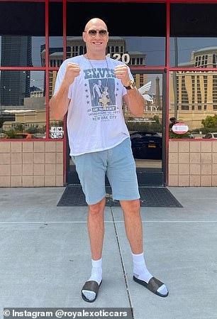 El Gypsy King, de 32 años, también fue visto en una concesionaria de automóviles de Las Vegas el miércoles.