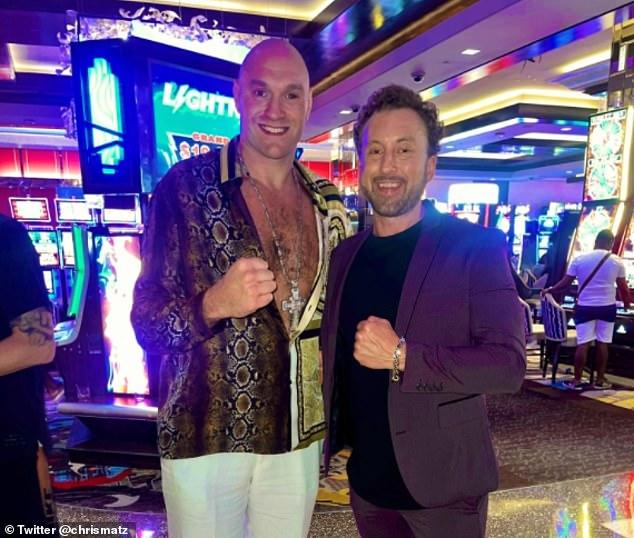 A pesar de contraer Covid-19, Fury ha estado disfrutando de Las Vegas esta semana