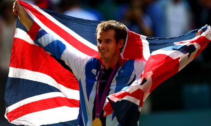 Andy Murray ganó una medalla de oro olímpica en el torneo individual masculino en Londres 2012