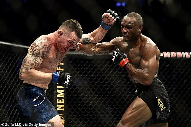 UFC 268 estará dirigido por los jugadores de peso welter Kamaru Usman (R) y Colby Covington (L)