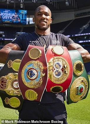 Anthony Joshua defenderá sus cuatro cinturones de título mundial de peso pesado en el estadio de Tottenham