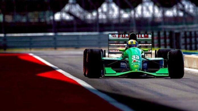 F1, Mick Schumacher en Silverstone con el Jordan 191 del debut de su padre en Spa