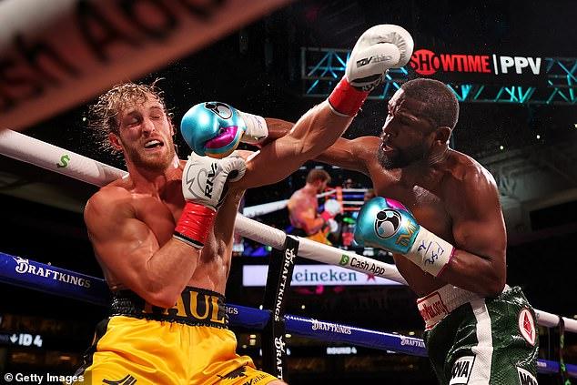 Floyd Mayweather y Logan Paul lucharon durante ocho rondas de tres minutos en Florida