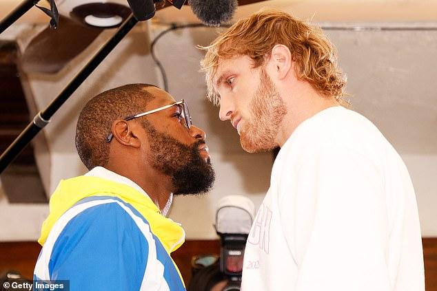 Floyd Mayweather y Logan Paul se enfrentaron durante el día de los medios antes de la pelea