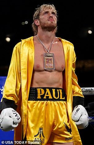 Logan Paul una vez jugó un juego profesional y participó en una exhibición el mes pasado.