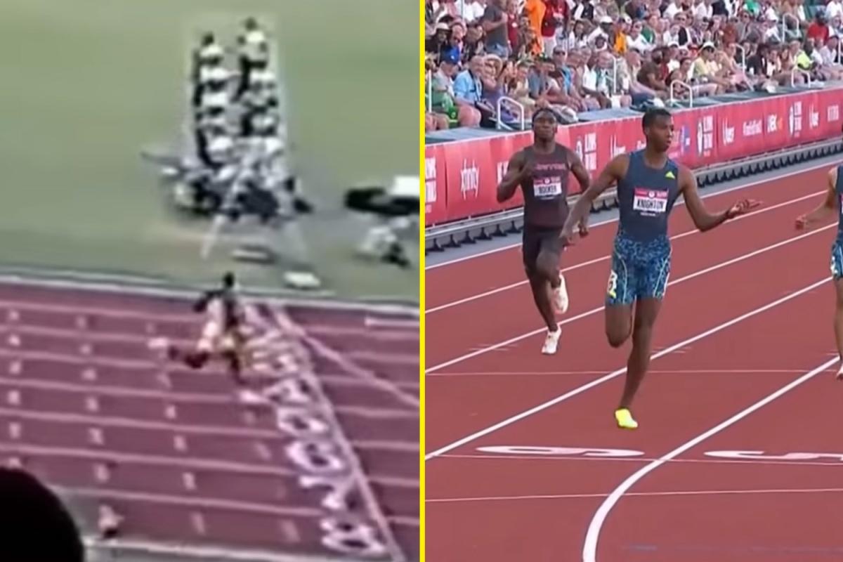 El aspirante olímpico Erriyon Knighton tiene 17 años y rompió el récord de 200 metros junior de Usain Bolt con más en el tanque y podría convertirse en la próxima superestrella del sprint en Tokio 2020.
