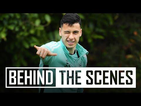 ¡Bienvenido de nuevo, Gabriel Martinelli!  |  Detrás de escena en el centro de entrenamiento del Arsenal