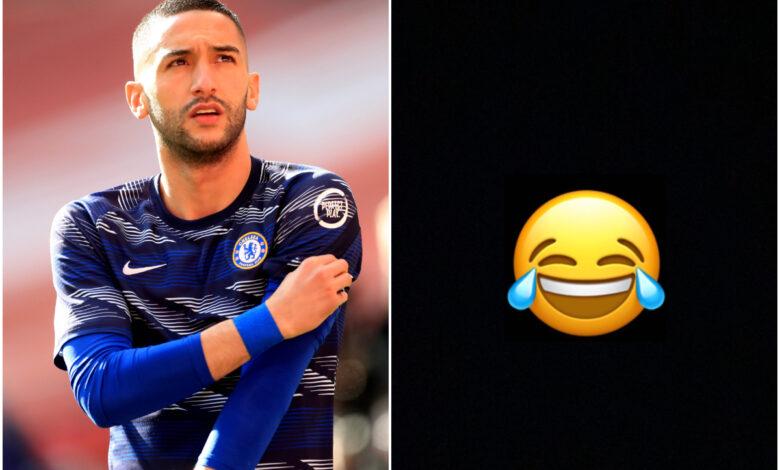 El as del Chelsea Ziyech publica emoji de risa después del desaire de Marruecos