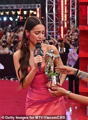 Tercero: Olivia Rodrigo gana el tercer premio en Push Performance of the Year