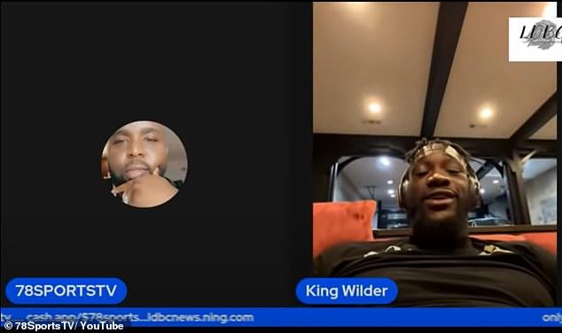 Wilder (derecha) afirmó a 78SportsTV que Fury intenta salir de las peleas y puede volver a hacerlo.