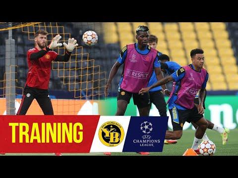 Los Rojos entrenan antes del primer partido de la Liga de Campeones    Young Boys v Manchester United    Ronaldo, Pogba, Bruno