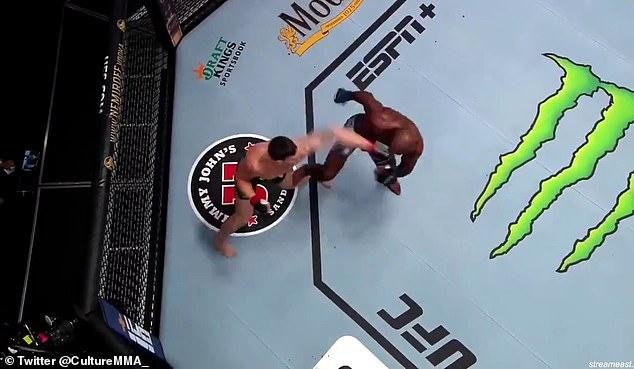 Khalil Rountree Jr derrotó a Modestas Bukauskas con una patada diagonal en UFC Vegas 36 el sábado