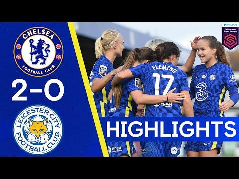 Chelsea 2-0 Leicester |  Los goles tardíos sellan los tres puntos |  Lo más destacado de la Superliga femenina