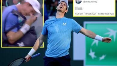 Andy Murray tuitea 'joder' después de salir de la cancha gritando tras la derrota de Alexander Zverev en Indian Wells y admite que 'algo no está bien'