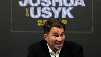 Eddie Hearn accidentalmente dejó escapar que cree que Anthony Joshua pierde ante Oleksandr Usyk nuevamente